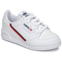 鞋子 儿童 球鞋基本款 Adidas Originals 阿迪达斯三叶草 CONTINENTAL 80 C 白色