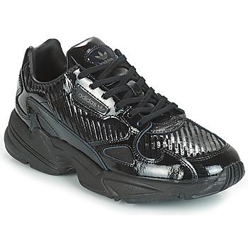 鞋子 女士 球鞋基本款 Adidas Originals 阿迪达斯三叶草 FALCON W 黑色 / 金色