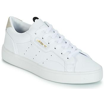 鞋子 女士 球鞋基本款 Adidas Originals 阿迪达斯三叶草 adidas SLEEK W 白色