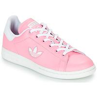 鞋子 女孩 球鞋基本款 Adidas Originals 阿迪达斯三叶草 STAN SMITH J 玫瑰色