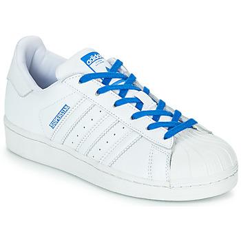 鞋子 女孩 球鞋基本款 Adidas Originals 阿迪達斯三葉草 SUPERSTAR J 白色 / 藍色