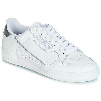 鞋子 女士 球鞋基本款 Adidas Originals 阿迪达斯三叶草 CONTINENTAL 80s 白色 / 银灰色