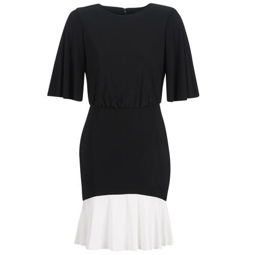 衣服 女士 短裙 Lauren Ralph Lauren ELBOW SLEEVE DAY DRESS 黑色 / 白色