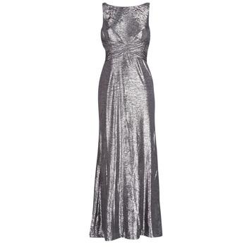 衣服 女士 长裙 Lauren Ralph Lauren SLEEVELESS EVENING DRESS GUNMETAL 灰色 / 银灰色