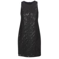 衣服 女士 短裙 Lauren Ralph Lauren SEQUINED SLEEVELESS DRESS 黑色