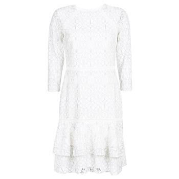 衣服 女士 短裙 Lauren Ralph Lauren LONG SLEEVE-LACE DAY DRESS 白色 / 黑色