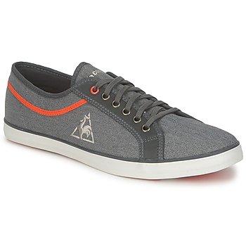 鞋子 男士 球鞋基本款 Le Coq Sportif 乐卡克 HONFLEUR HBONE 黑色 / 棕红色