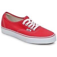 鞋子 球鞋基本款 Vans 范斯 AUTHENTIC 红色