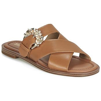 鞋子 女士 休闲凉拖/沙滩鞋 Michael by Michael Kors FRIEDA SLIDE 棕色