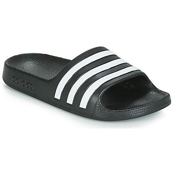 鞋子 儿童 拖鞋 adidas Performance 阿迪达斯运动训练 ADILETTE AQUA K 黑色 / 白色