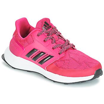 鞋子 女孩 跑鞋 adidas Performance 阿迪达斯运动训练 RAPIDARUN K 玫瑰色