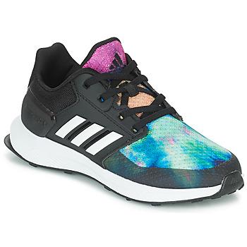 鞋子 女孩 跑鞋 adidas Performance 阿迪达斯运动训练 RAPIDARUN X K 黑色