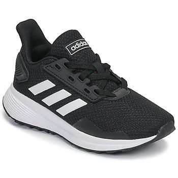 鞋子 兒童 跑鞋 adidas Performance 阿迪達斯運動訓練 DURAMO 9 K 黑色 / 白色