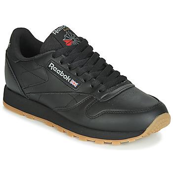 鞋子 球鞋基本款 Reebok Classic CL LTHR 黑色