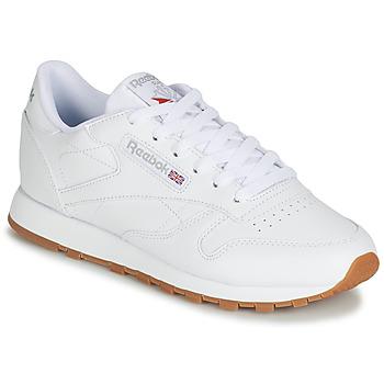 鞋子 女士 球鞋基本款 Reebok Classic CL LTHR 白色