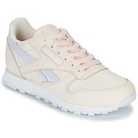 鞋子 女孩 球鞋基本款 Reebok Classic CLASSIC LEATHER 玫瑰色