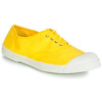 鞋子 女士 球鞋基本款 Bensimon TENNIS LACETS 柠檬色