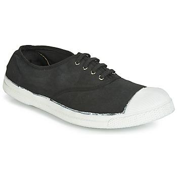 鞋子 男士 球鞋基本款 Bensimon TENNIS LACETS 煤黑色