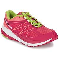 鞋子 女士 跑鞋 Salomon 萨洛蒙 SENSE PULSE WOMAN 玫瑰色 / 橙色 / 绿色