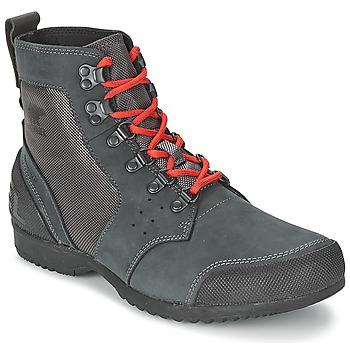 鞋子 男士 短筒靴 Sorel ANKENY MID HIKER RIPSTOP 黑色 / 灰色