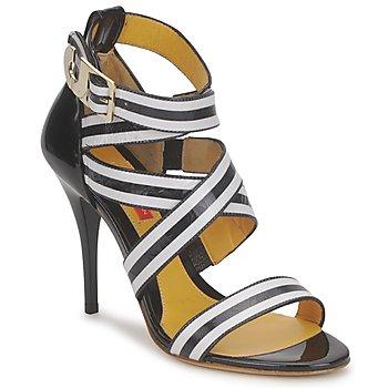 鞋子 女士 凉鞋 Charles Jourdan BARBARA 黑色 / 白色