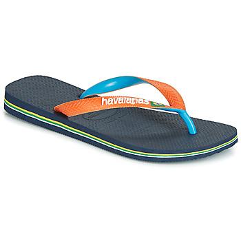 鞋子 人字拖 Havaianas 哈瓦那 BRASIL MIX 海藍色 / 橙色