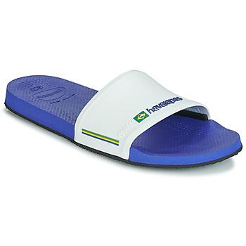 鞋子 男士 拖鞋 Havaianas 哈瓦那 SLIDE BRASIL 海蓝色 / 白色