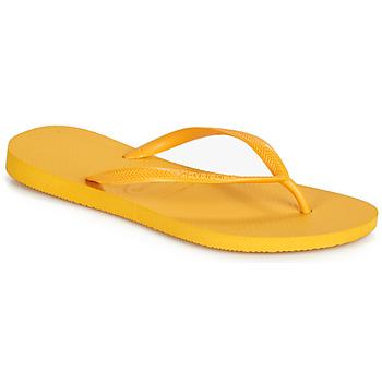 鞋子 女士 人字拖 Havaianas 哈瓦那 SLIM 黃色