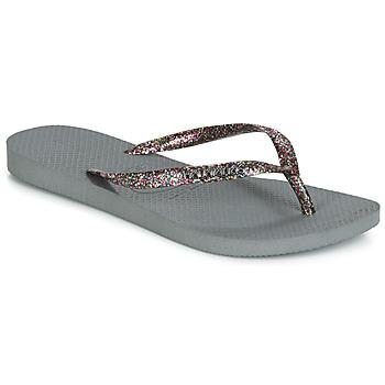 鞋子 女士 人字拖 Havaianas 哈瓦那 SLIM LOGO METALLIC 灰色