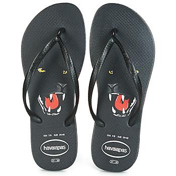 鞋子 女士 人字拖 Havaianas 哈瓦那 SLIM ANIMAL PRINT 黑色