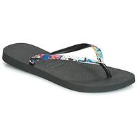 鞋子 女士 人字拖 Havaianas 哈瓦那 SLIM STRAPPED 黑色