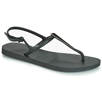 鞋子 女士 凉鞋 Havaianas 哈瓦那 FREEDOM MAXI 黑色