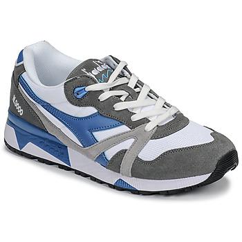 鞋子 男士 球鞋基本款 Diadora 迪亞多納 N 9000 III 白色 / 灰色 / 松石綠