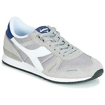 鞋子 男士 球鞋基本款 Diadora 迪亞多納 TITAN II 灰色 / 藍色