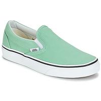 鞋子 女士 平底鞋 Vans 范斯 CLASSIC SLIP-ON 绿色