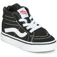 鞋子 儿童 高帮鞋 Vans 范斯 SK8-HI ZIP 黑色 / 白色
