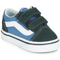 鞋子 儿童 球鞋基本款 Vans 范斯 OLD SKOOL V 海蓝色