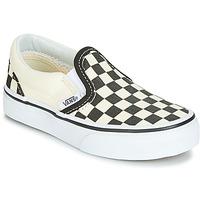 鞋子 儿童 平底鞋 Vans 范斯 CLASSIC SLIP-ON 黑色 / 白色