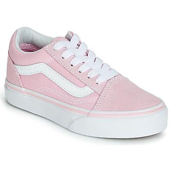 鞋子 女孩 球鞋基本款 Vans 范斯 OLD SKOOL 玫瑰色