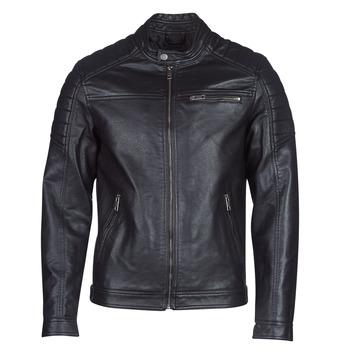 衣服 男士 皮夹克/ 人造皮革夹克 Jack & Jones 杰克琼斯 JCOROCKY 黑色