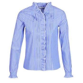 衣服 女士 衬衣/长袖衬衫 Maison Scotch LONG SLEEVES SHIRT 蓝色 / 米色