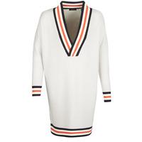 衣服 女士 羊毛衫 Maison Scotch WHITE LONG SLEEVES 白色 / 奶油色