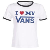 衣服 女士 短袖体恤 Vans 范斯 VANS LOVE RINGER 白色