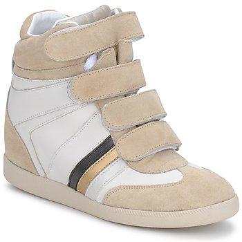 鞋子 女士 高帮鞋 Serafini MANATHAN SCRATCH 白色-奶油色-蓝色