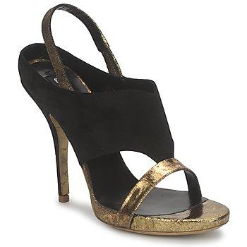 鞋子 女士 凉鞋 Gaspard Yurkievich 嘉斯帕·尤基韦齐 T4 VAR7 黑色 / 金色