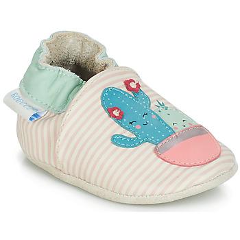 鞋子 女孩 儿童拖鞋 Robeez CACTUS 浅米色 / 玫瑰色