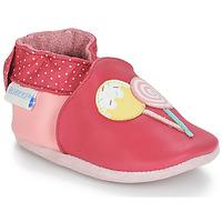 鞋子 女孩 兒童拖鞋 Robeez FUNNY SWEETS 玫瑰色 / 白色