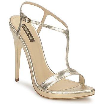 鞋子 女士 凉鞋 Roberto Cavalli 罗伯特·卡沃利 RDS736 金色
