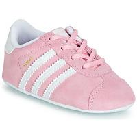 鞋子 儿童 球鞋基本款 Adidas Originals 阿迪达斯三叶草 GAZELLE CRIB 玫瑰色