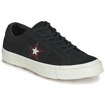 鞋子 女士 球鞋基本款 Converse 匡威 ONE STAR LOVE IN THE DETAILS SUEDE OX 黑色
